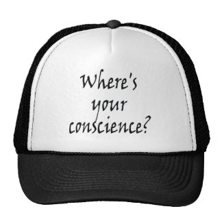 Where's Your Conscience? Cap Trucker Hat