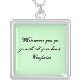 Wheresoever You Go Silver Plated Necklace