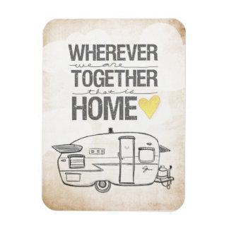 Wherever We Are Together | Vintage Trailer Magnet