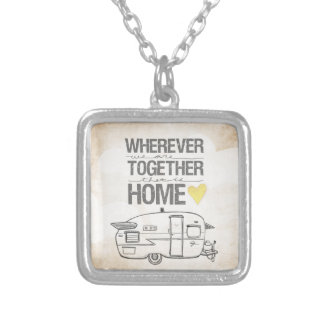 Wherever We Are Together   Vintage Trailer Necklaces