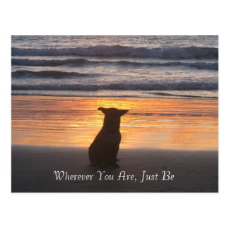 Wherever You Are, Just Be Postcard