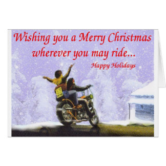 Wherever you may ride greeting card