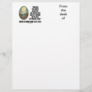 Bad letterhead zazzle whether events in life good or bad perceive them spiritdancerdesigns Images