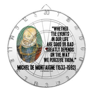 Whether Events In Life Good Or Bad Perceive Them Dart Boards