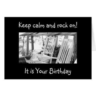 WHETHER U ROCK OR ROCK AND ROLL=BIRTHDAY WISH CARD