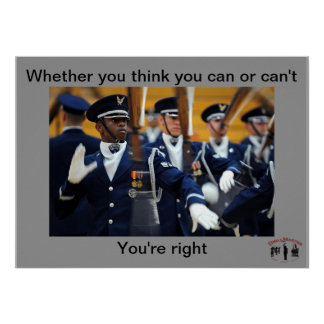 Whether you think you can or can't poster