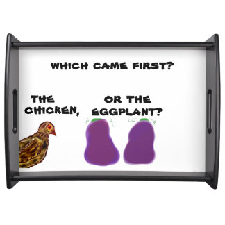 which came first? chicken or eggplant? Bed Tray