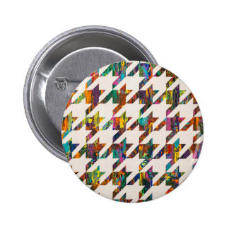Which Came First, Galaga or Houndstooth? Pinback Button