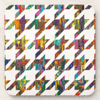 Which Came First, Galaga or Houndstooth? Beverage Coaster