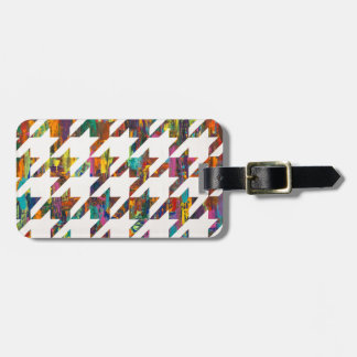Which Came First, Galaga or Houndstooth? Bag Tag
