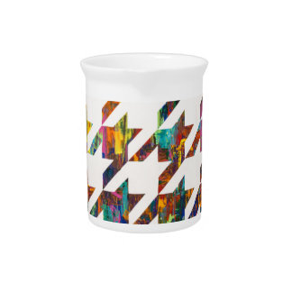 Which Came First, Galaga or Houndstooth? Beverage Pitcher