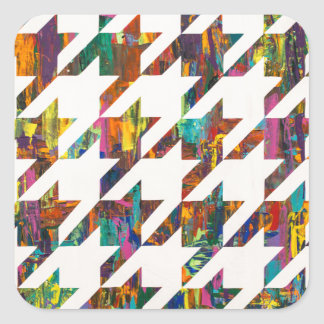 Which Came First, Galaga or Houndstooth? Square Sticker