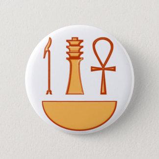 Which Djed Anch symbol triad Pinback Button