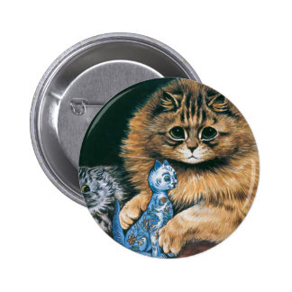 Which Do I Love Best? Louis Wain Cat Artwork Buttons