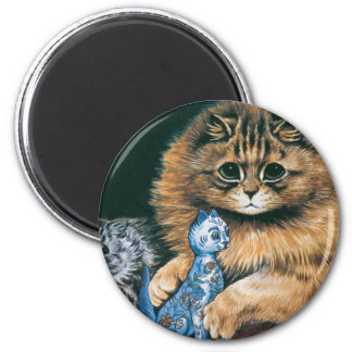 Which Do I Love Best? Louis Wain Cat Artwork Magnet