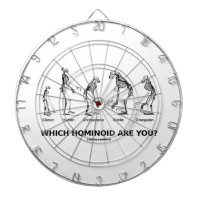 Which Hominoid Are You? (Skeletons Humor) Dart Board