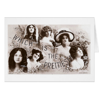 Which is the Prettiest Actress? Card