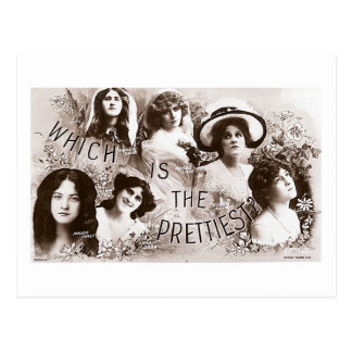 Which is the Prettiest Actress? Postcards