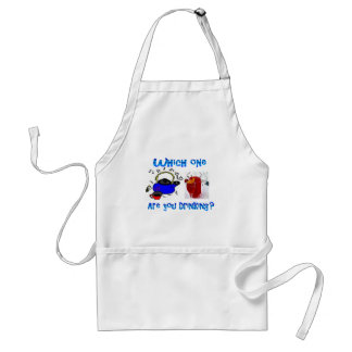 Which one are you drinking? adult apron