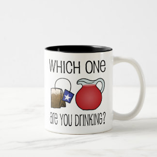 Which One Are You Drinking? Two-Tone Coffee Mug