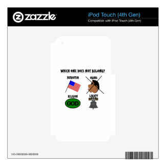 WHICH ONE DOES NOT BELONG png Skin For iPod Touch 4G