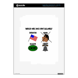 WHICH ONE DOES NOT BELONG png iPad 3 Decal