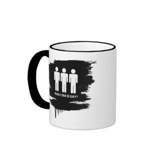WHICH ONE IS GAY - WHITE - png Coffee Mug