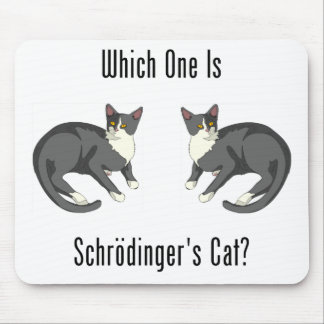 Which One Is Schrodinger's Cat? Mouse Pad