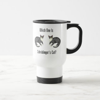 Which One Is Schrodinger's Cat? Travel Mug