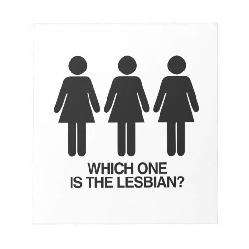 WHICH ONE IS THE LESBIAN -.png Memo Note Pad
