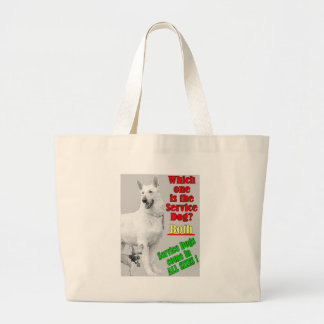 Which One Is The Service Dog? Tote Bags
