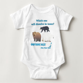 Which one will dissolve in water Polar Chemistry Baby Bodysuit