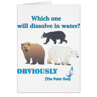 Which one will dissolve in water Polar Chemistry Cards