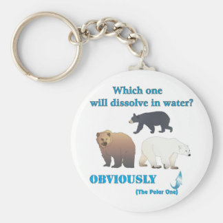 Which one will dissolve in water Polar Chemistry Keychain