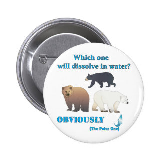 Which one will dissolve in water Polar Chemistry Pinback Button