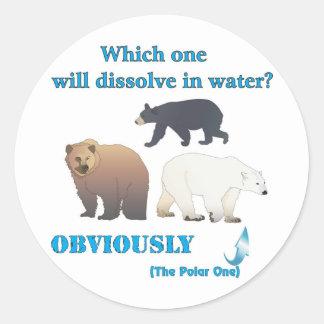 Which one will dissolve in water Polar Chemistry Sticker
