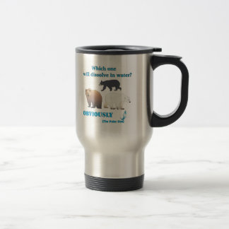 Which one will dissolve in water Polar Chemistry Travel Mug