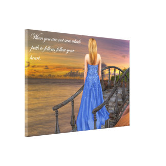 Which Path? Follow your Heart. Canvas Print