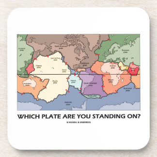 Which Plate Are You Standing On? (Plate Tectonics) Drink Coasters
