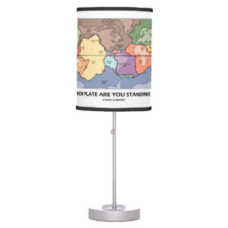 Which Plate Are You Standing On? (Plate Tectonics) Desk Lamps