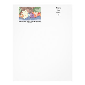 Which Plate Are You Standing On? (Plate Tectonics) Letterhead