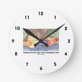 Which Plate Are You Standing On? (Plate Tectonics) Round Wallclock