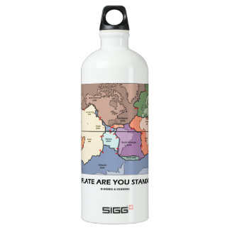 Which Plate Are You Standing On? (Plate Tectonics) SIGG Traveler 1.0L Water Bottle