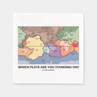 Which Plate Are You Standing On? (Plate Tectonics) Standard Cocktail Napkin