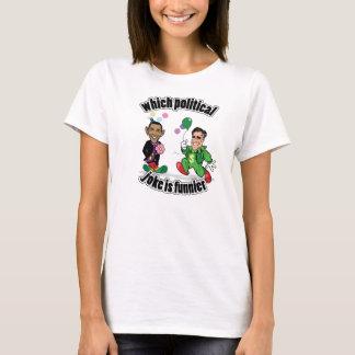 Which Political Joke is Funnier? (Women) T-Shirt
