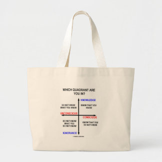 Which Quadrant Are You In? Jumbo Tote Bag