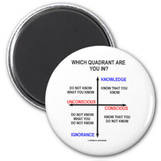 Which Quadrant Are You In? 2 Inch Round Magnet