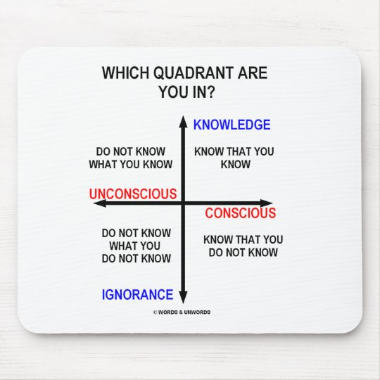 Which Quadrant Are You In? Mouse Pad