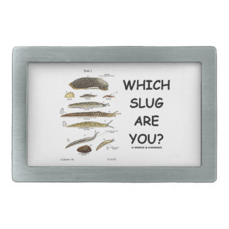 Which Slug Are You? (Different Types Of Slugs) Rectangular Belt Buckle