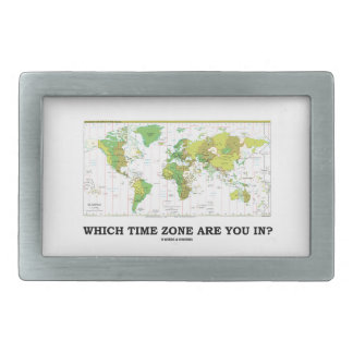 Which Time Zone Are You In? (Standard Time Zones) Rectangular Belt Buckle